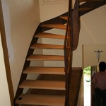 Escalier fer et bois à Beauvechain